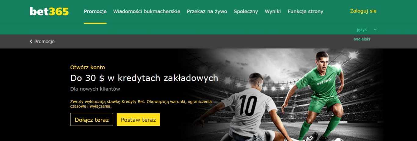 Bet365 Zakłady sportowe bonus