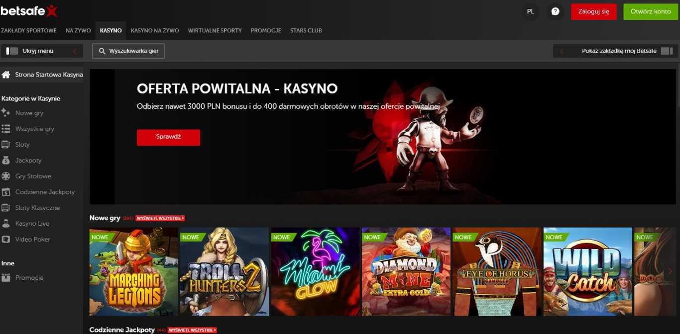 Betsafe kod promocyjny Casino