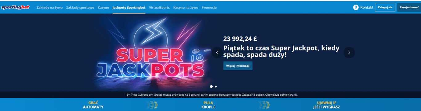SportingBet jackpoty