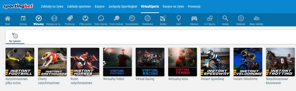 SportingBet virtual sports