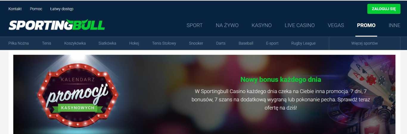 Sportingbull kalendarz promocji