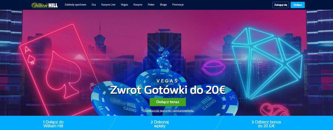 William Hill Zworot gotovki do 20 eur